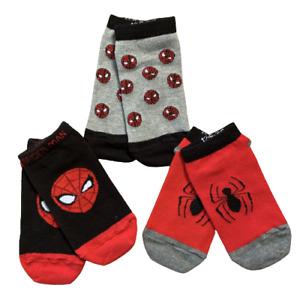 3 Pairs Boys NEXT Spider-Man Spiderman Trainer Liner Socks