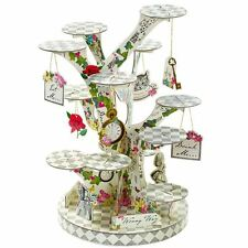 TRULY ALICE IN WONDERLAND TREE SHAPED CAKE STAND PARTY CENTREPIECE MAD HATTER