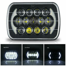 """Brightest 5X7"""" 7x6inch Rectangle LED Headlight DRL BLACK for Toyota Pickup Truck"""