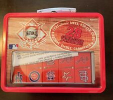 2006 MLB  Super-Sized Dominoes In Lunch Box Tin Mets Braves Cubs Cardinals.....