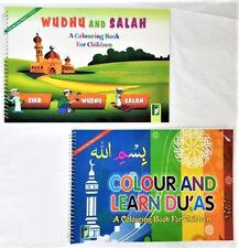 Wudhu and Salah Colouring Book / Colour & Learn Duas for Children - 2 Books