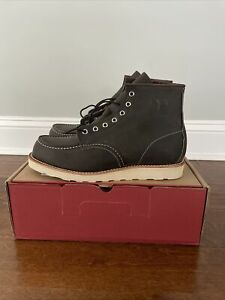 Red Wing 8890 CLASSIC MOC 9.5D CHARCOAL ROUGH & TOUGH LEATHER Factory Second