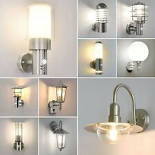 Außenleuchte Bewegungsmelder Wand Lampe Gartenlampe Edelstahl Terrasse E27