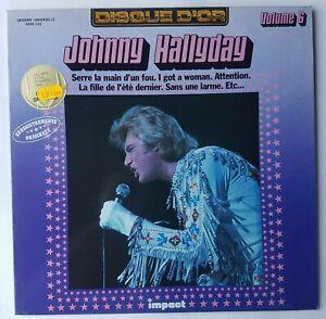 "JOHNNY HALLYDAY 6 - LP EXCELLENT ETAT ! ♦ DISQUE D'OR ""IMPACT"" - SERRE LA MAIN.."