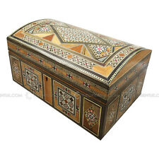 Handmade Middle Eastern Syrian Inlaid Mosaic Wooden Jewellery Gift Box 17x27x14