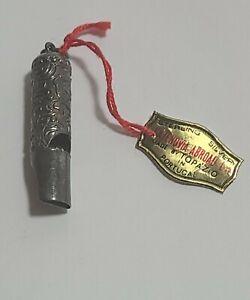 Sterling Silver Whistle Pendant or charm  Cazenovia abroad topazio Portugal