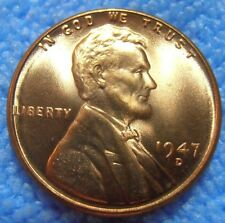 1947 D Lincoln Cent - Bu Wheat Penny