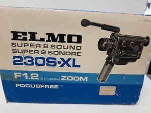 Elmo Super 8 Sound 230s-XL F1.2 Zoom Focus FRee #824