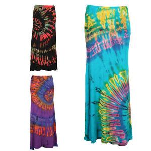 Tie Dye Maxi Skirt Hippy Skirt Boho Festival