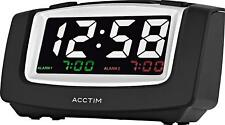 Acctim All New Black Celeus USB Smart Connector® Digital Alarm Clock 15333