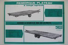 prospectus remorques plateau à usage agricole charrue Bonnel Tracteur