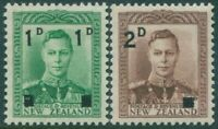 New Zealand 1941 SG628-629 KGVI surcharges set MNH