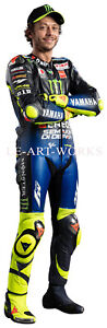 LIFE SIZE VALENTINO ROSSI MOTOR CYCLE ROAD RACER MOTOGP CHAMPION CANVAS POSTER