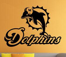 Miami Dolphins Wall Decal NFL Vinyl Sticker Home Sport Art Decor Football Emblem