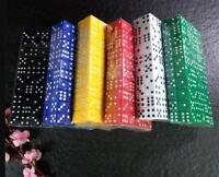 50 Stück Acryl Sechsseitige Punkt-Würfel Set Spielwürfel Kinder Spiel 12mm