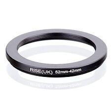 RISE(UK) 52-42mm  52mm-42mm Matel Black Step Down Ring Filter Adapter 52-42