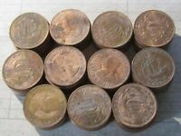 GREAT BRITAIN HALF PENNY'S 1937-1967 ( 110x Coins) Great Cond. - Lot# 2020-129