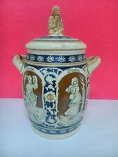 Gran Jarra o tarro de porcelana, fabricado en Alemania. Decorado 4 estaciones.