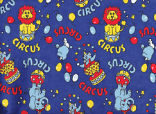 Royal Blue Circus Nursery Flannelette