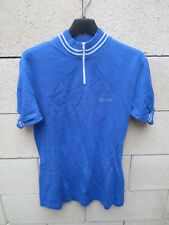 Maillot cycliste JACQUES ANQUETIL bleu cycling shirt jersey 70's vintage 4 180 L