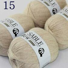 4Skeinsx50g 100% Pure Sable Cashmere Hand DIY Yarn Knit Shawls Wrap Crochet  15