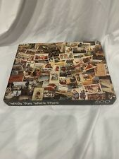 Springbok - Wish You Were Here - Over 500 Pieces - Vtg Postcards Jigsaw Puzzle