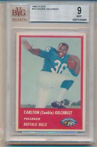 "1963 Fleer Football Carlton ""Cookie"" Gilchrist (Rookie Card) (#23) BVG9 BVG"