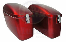 LW Motorcycle Hard Saddlebags Bags Burgundy Red for Yamaha Honda Suzuki Kawasaki