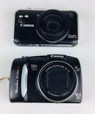 Canon Powershot Camera Lot Parts Or Repair SX120 IS SX230 HS Lens Errors