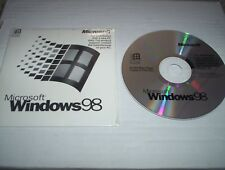 New Sealed Microsoft Windows 98 Operating System CD with 25 digit product key