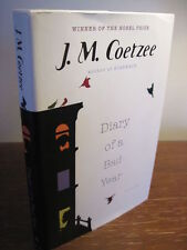 1st Edition DIARY OF A BAD YEAR J.M. Coetzee NOBEL PRIZE First Printing FICTION