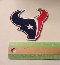 """Houston Texans embroidered, 3.5"""" by 3.25"""",  iron on patch, NFL, football, Patch"""