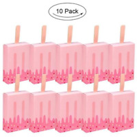 10//20//50X Cute Ice Cream Shape Gift Candy Boxes Party Favor Popsicle Paper Boxes