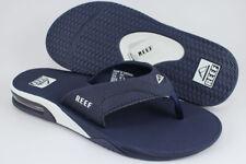 e2519e137bab REEF FANNING NAVY BLUE WHITE FLIP FLOPS THONG SANDALS BEACH MICK US MENS  SIZES