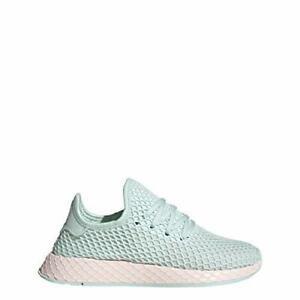 Adidas Juniors Unisex DEERUPT Runner Shoes, Ice Mint/White