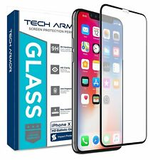Tech Armor Edge to Edge Glass Screen Protector for Apple iPhone X / Xs [1-Pack]