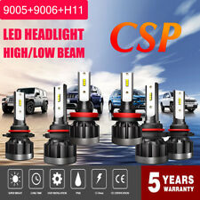 New Combo CSP LED Headlight Kit 9005+H11+9006 7200W 864000LM Lamps Bulbs 6000K
