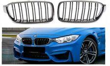 BMW F30 F31 M3 look chrome black front kidney kidneys grilles double spoke