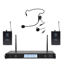W Audio DTM-600 Dual UHF Trasmettitore CH38 Microfono Radio bavero Cuffie Wireless