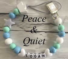 Personalised Dummy Clip💙Wooden👑Dummy Chain💙silicone👑boy💙Metal👑crown💙 #MWP