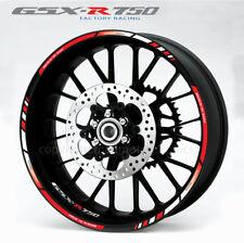 Suzuki GSX-R 750 wheel decals stickers set gsxr750 rim stripe gsxr Laminated red