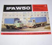 Broschüre DDR LKW  IFA W 50 Produktion Werk Ludwigsfelde Prospekt