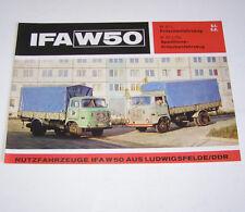 Prospekt / Broschüre DDR LKW IFA W 50 L Pritschenfahrzeug - Stand 1973!