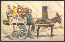 Palermo Carretto Siciliano Asino cartolina ZT8331