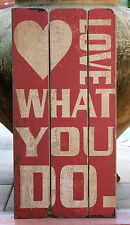"Large   Rustic  Wood   "" LOVE ...  ""    WALL PLAQUE     Brand New"
