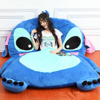 Giant Lilo & Stitch Plush Tatami Bed Single Beanbag Cartoon Big Sleeping Bag Hot