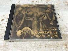 Sol Invictus CURRENT 93  DEATH IN JUNE / numbered CD 1991 Frankfurt sound depot