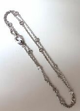 .50ct diamonds station yard necklace 14kt 16 inch