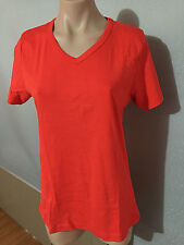 BNWT Ladies Sz 16 Target Burnt Orange Short Sleeve V Neck Classic T Shirt Top