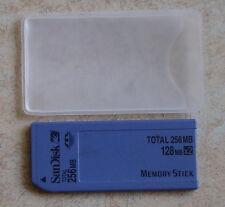 Original 2x 128mb = 256mb SanDisk Memory Stick con conmutador vieja construcción